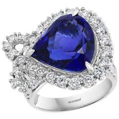 Effy Hematian 18 Karat White Gold Diamond and Tanzanite Ring