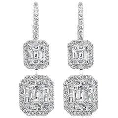 Effy Hematian 18 Karat White Gold Diamond Art Deco Statement Drop Earrings