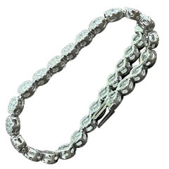 Effy's 5.5 Carat Basel Set Diamond Line Tennis Bracelet in 14 Karat White Gold