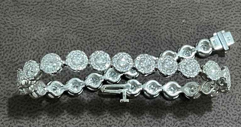 Effy's 5.5 Carat Basel Set Diamond Line Tennis Bracelet in 14 Karat White Gold For Sale 1