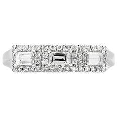 EG Lab Certified Natural Untreated White Diamond Engagement Wedding Ring