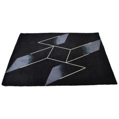 Ege Rya Art Line Danish Wool Rug Designed by Joseph Albers 1954-Produced in 1988