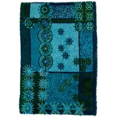 """Ege Rya Rug in """"Blue Snowflake"""" Design"""
