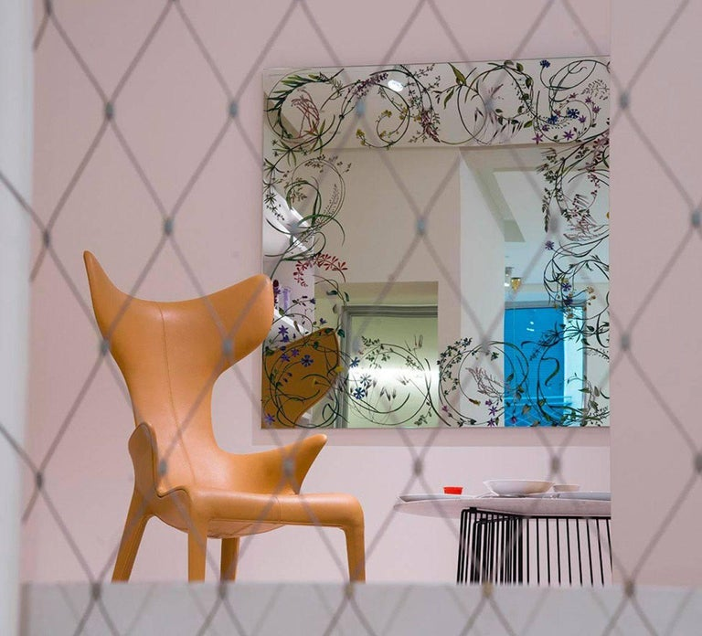 Modern Egeso Wild Herbs Mirror by Bertocco & Locatelli for Driade For Sale