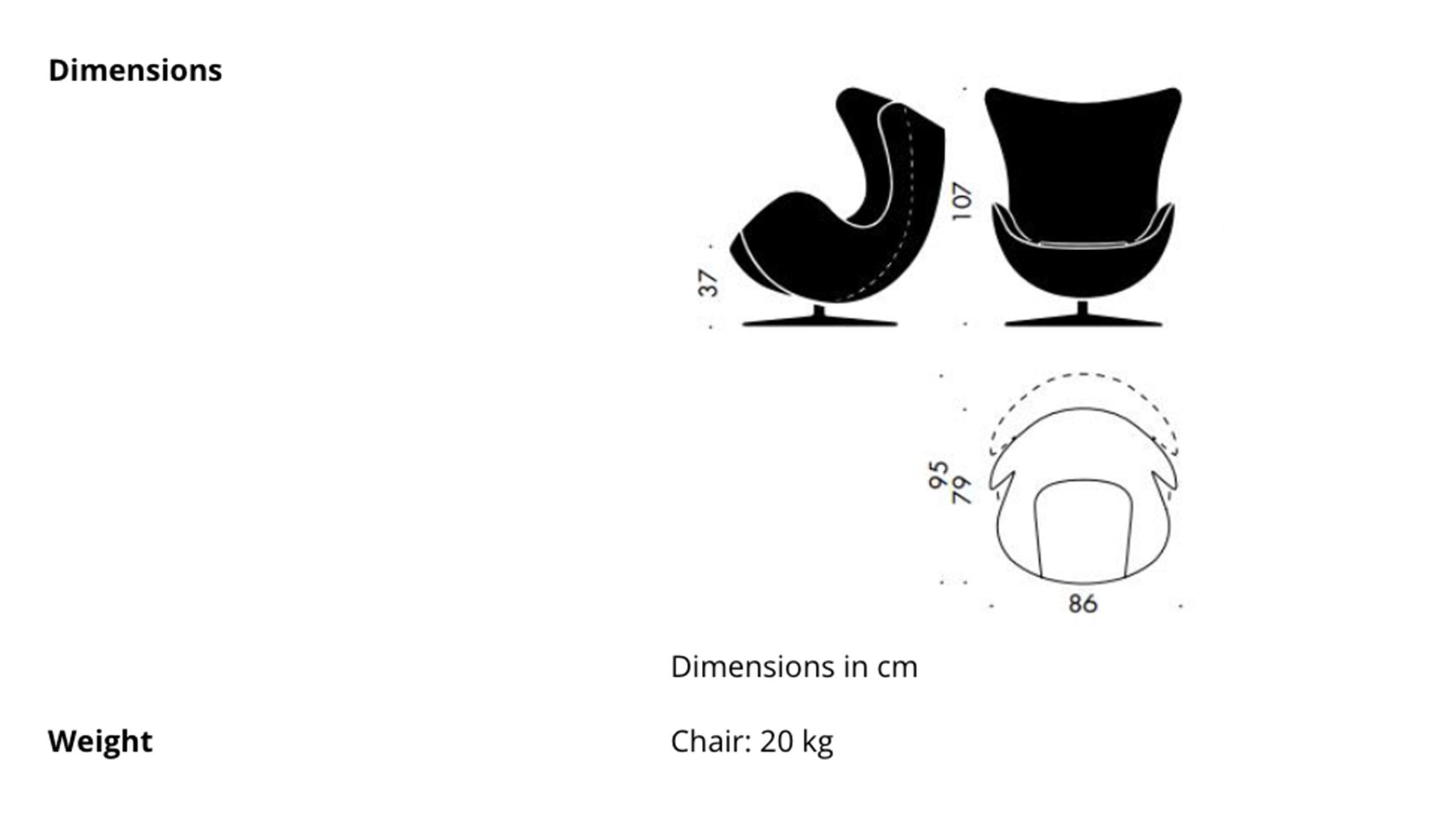 Egg Chair By Arne Jacobsen For Fritz Hansen In White Leather 2018 Fritz Hansen For Sale At 1stdibs
