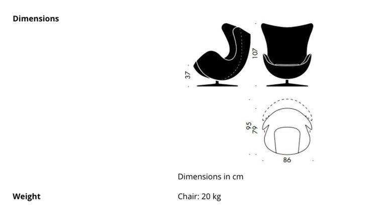 Egg Chair by Arne Jacobsen for Fritz Hansen in White Leather, 2018 Fritz Hansen For Sale 9