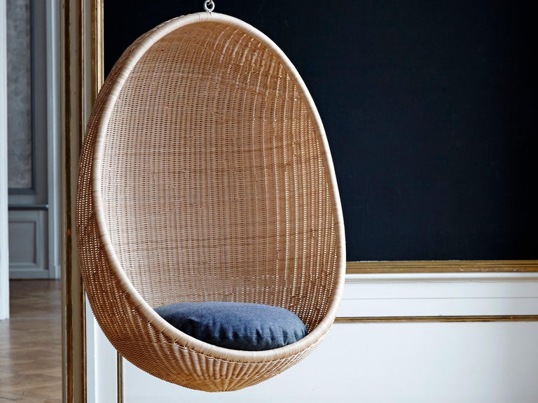 Mid-20th Century Egg Hanging Chair by Nanna Ditzel, New Edition