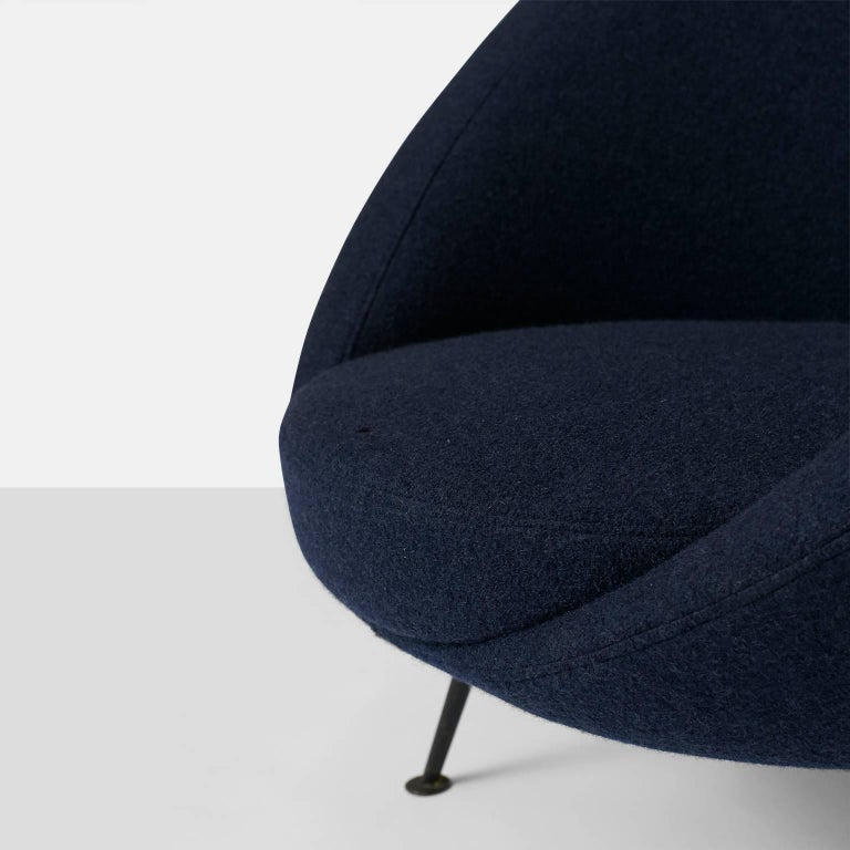 """Wool """"Egg"""" Lounge Chair by Ico Parisi For Sale"""