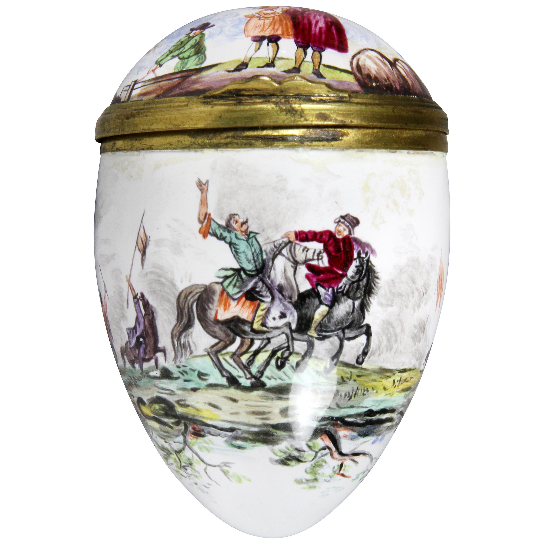Egg Shaped Enamel Box