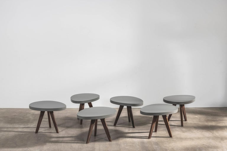 Inspired by nature, these playful egg-shaped side tables look good on their own and even better as a group. 