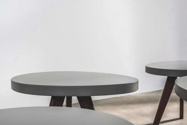 Walnut 'Egg' Side Tables Designed by Russell Pinch For Sale