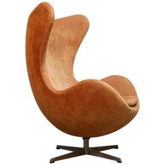 Egg Swivel Chair by Arne Jacobsen for Fritz Hansen, Double Signed, August 1967
