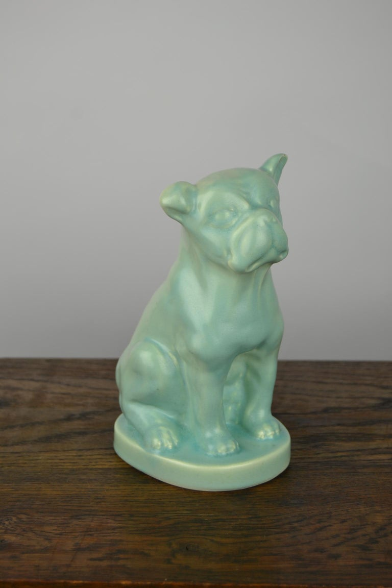 Charming porcelain French or English bulldog / bully / dog figurine