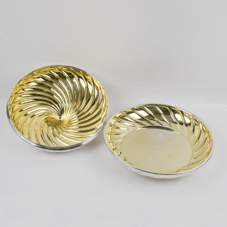 Egidio Broggi, Milano Oversized Silver Plate Swirled Box In Good Condition For Sale In Atlanta, GA
