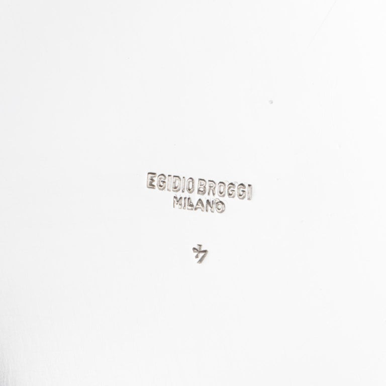 Egidio Broggi, Milano Oversized Silver Plate Swirled Box For Sale 1