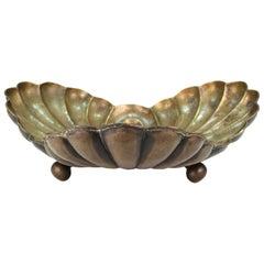 Egidio Casagrande Italian Modernist Monumental Brass Vessel
