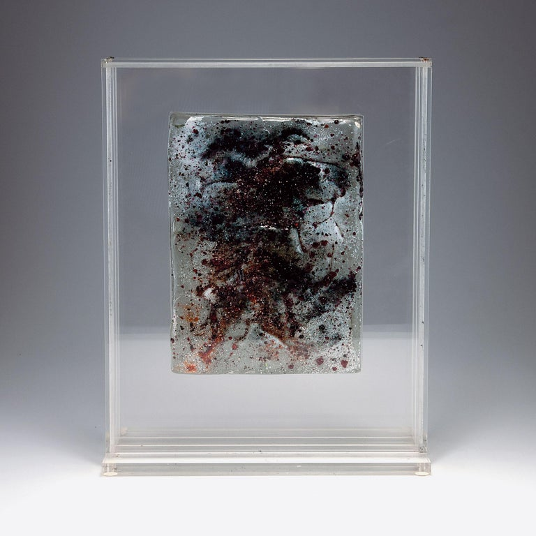 Italian Egidio Costantini & Anthony Ellero Rare Glass Block For Sale