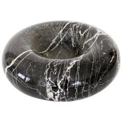 Egidio Di Giusti Di Rosa Concetta Black Marquina Marble Dish Vide Poche Up & Up