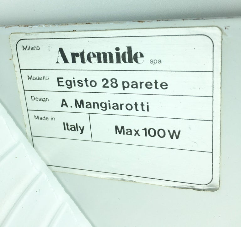Egisto 28 Sconces by Artemide, Set of 3 In Excellent Condition For Sale In Naples, IT