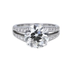 EGL Certificated Brilliant Cut Diamond Solitaire Engagement Ring