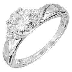 EGL Certified 1.00 Carat Diamond White Gold Engagement Ring