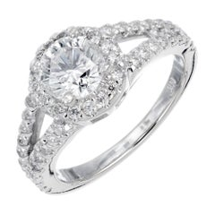 EGL Certified 1.02 Carat Diamond Platinum Engagement Ring