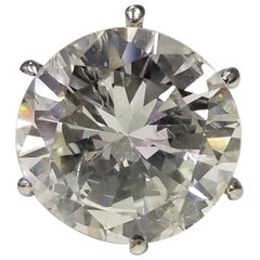 EGL Certified 10.64 Carat Color H Clarity SI2 Solitaire