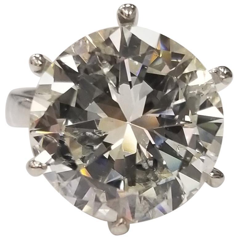 """EGL Certified 10.69 Carat Brilliant Cut Diamond Color """"H"""" Clarity SI2"""
