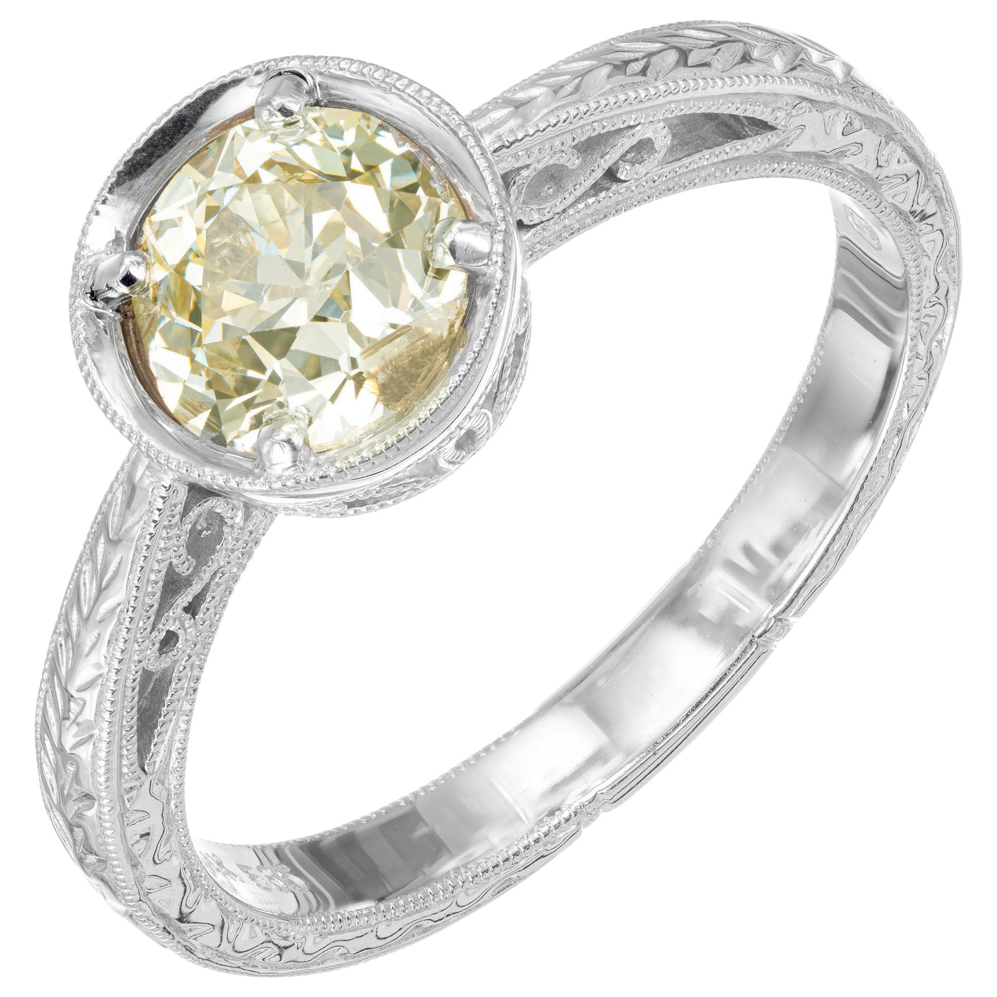 EGL Certified 1.11 Carat Diamond White Gold Solitaire Engagement Ring