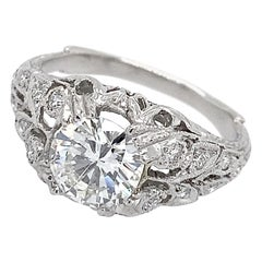 EGL Certified 1.14 Carat Diamond in Edwardian-Inspired Platinum Engagement Ring