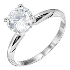 EGL Certified 1.15 Carat Diamond White Gold Solitaire Engagement Ring