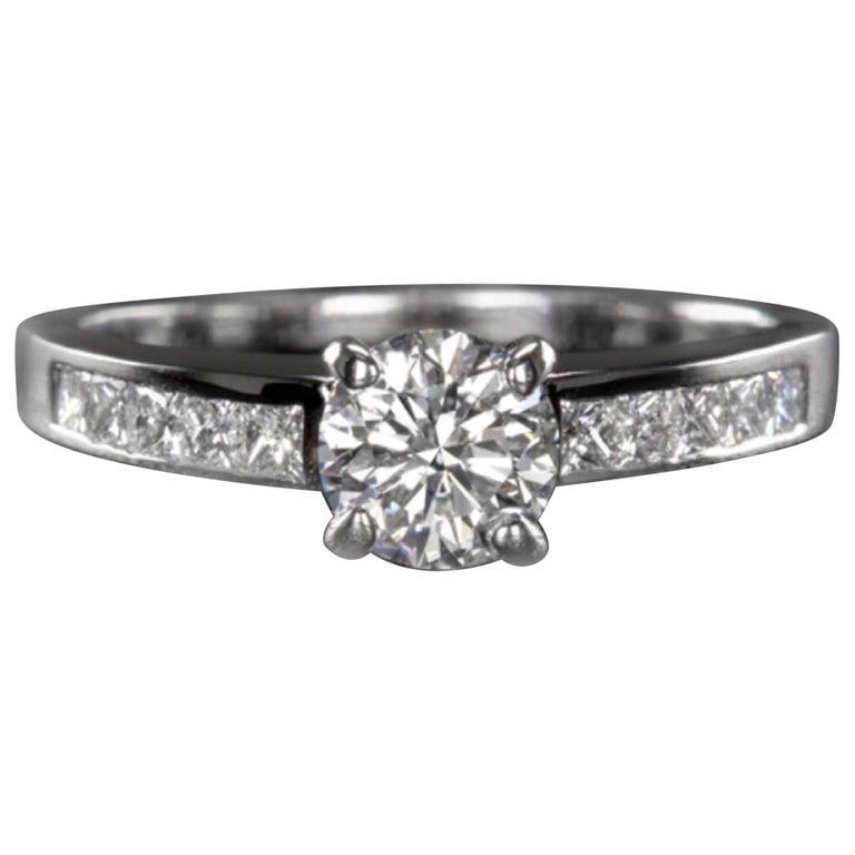 EGL Certified 1.20 Carat Engagement Ring For Sale