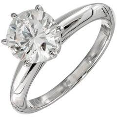 EGL Certified 1.41 Carat Diamond Platinum Solitaire Engagement Ring