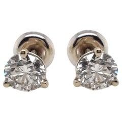 EGL Certified 1.42 Carat Diamond Stud Earrings