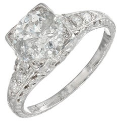 EGL Certified 1.56 Carat Diamond Platinum Engagement Ring
