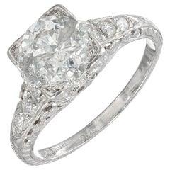 EGL Certified 1.56 Carat Diamond Platinum Engagement Ring