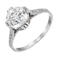 EGL Certified 1.85 Diamond Platinum Engagement Ring