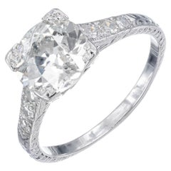 EGL Certified 1.96 Carat Diamond Platinum Engagement Ring