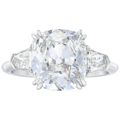 GIA  Certified 1.52 Carat Old Mine Cushion Cut Ring