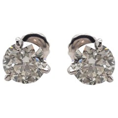 EGL Certified 2.04 Carat Diamond Stud Earrings