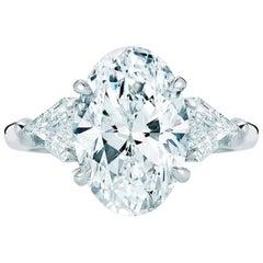 EGL Certified 2.25 Carat Oval Diamond Ring