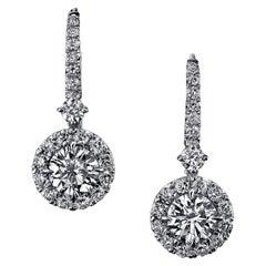 EGL Certified 2.31 Carat Round Brilliant Diamond Earrings