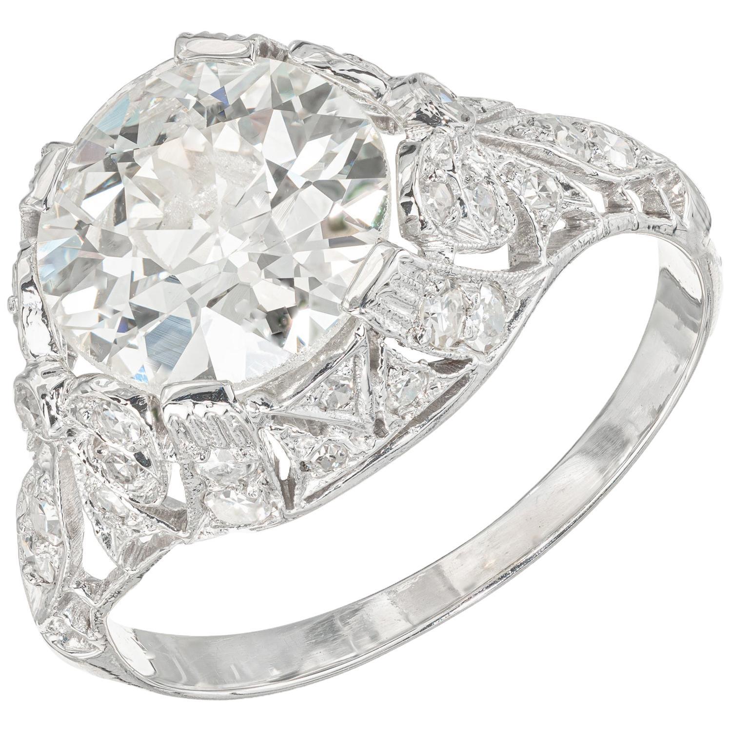 EGL Certified 2.48 Carat Diamond Platinum Engagement Ring