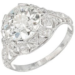 EGL Certified 2.48 Carat Diamond Platinum Engagement Ring