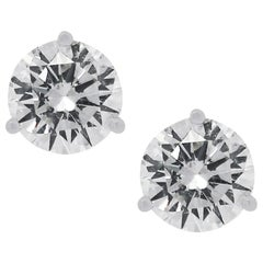 EGL Certified 2.97 Carat Stud Earrings