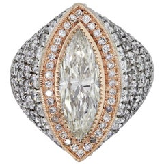 EGL Certified 3.06 Carat Marquise Shape Diamond Ring