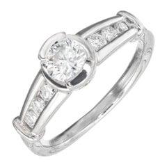 EGL Certified .40 Carat Semi Bezel Channel Set Diamond Engagement Ring