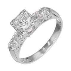 EGL Certified .43 Carat Diamond White Gold Engagement Ring