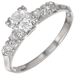 EGL Certified .57 Carat Diamond Platinum Engagement Ring