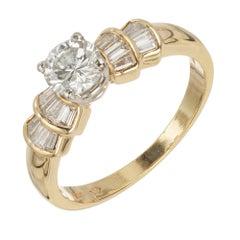 EGL Certified .57 Carat Diamond Yellow Gold Engagement Ring
